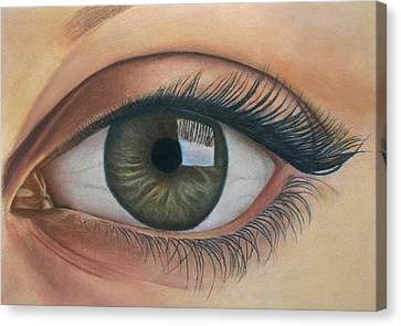 Eye - The Window Of The Soul Canvas Print by Vishvesh Tadsare