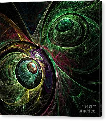Modern Digital Art Canvas Print - Eye To Eye by Oni H
