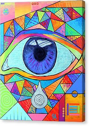 Eye With Silver Tear Canvas Print