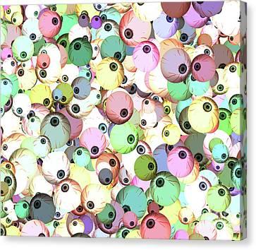 Eyeballs Canvas Print by Methune Hively
