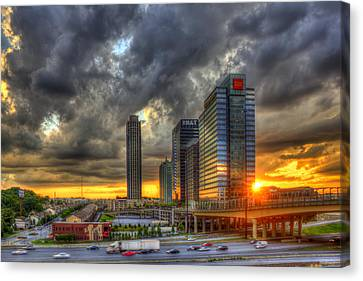 Eyecatcher Sunset Atlantic Station Canvas Print