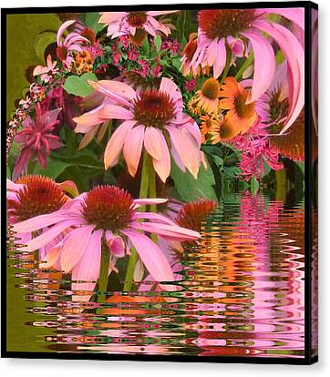 Eyecatching Cone Flowers Canvas Print by Nancy Pauling