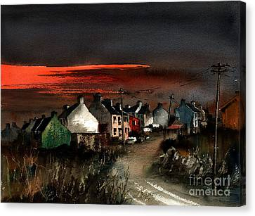 Cork Beara Eyeries Sunset Beara Canvas Print by Val Byrne