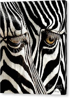 Eyes And Stripes Forever Canvas Print by Jennie Breeze