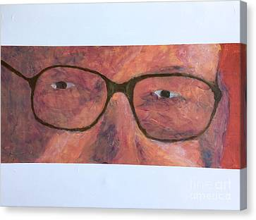 Canvas Print featuring the painting Eyes by Donald J Ryker III
