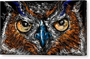 Eyes In The Night... Canvas Print