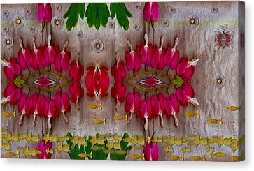 Eyes Made Of The Nature Canvas Print