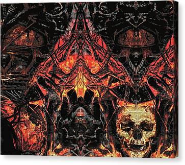 Canvas Print featuring the painting Eyes Of Darkness  by David Mckinney