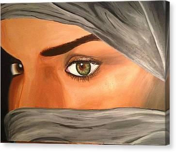 Eyes Of Despair Canvas Print by Michael McKenzie