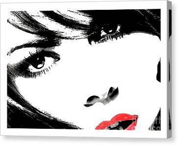 Eyes Of Lust Canvas Print