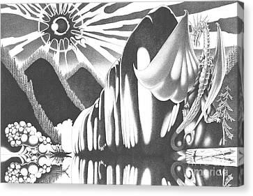 Eyes Of The Beholder Canvas Print by Devaron Jeffery