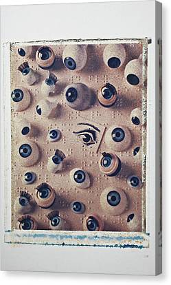Eyes On Braille Page Canvas Print by Garry Gay