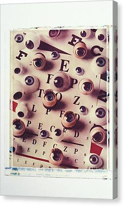 Eyes On Eye Chart Canvas Print