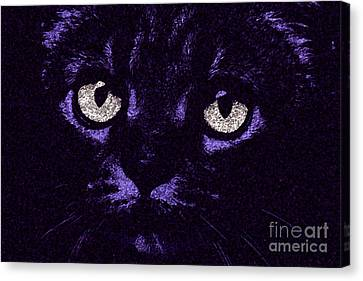 Eyes Straight To The Heart Canvas Print by Andee Design