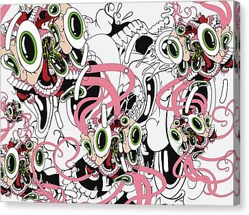 Psychadelic Canvas Print - Eyesore IIi by Dan Fluet