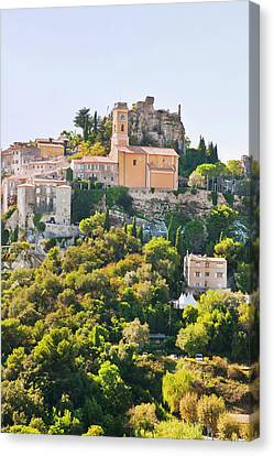 Eze, Cote D'azur, France Canvas Print by John Harper