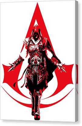 Ezio - Assassin's Creed Canvas Print by Danilo Caro