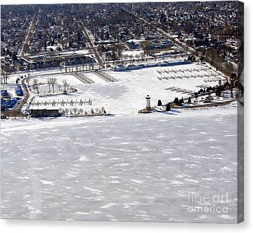 F-002 Fond Du Lac Wisconsin Harbor Winter Canvas Print by Bill Lang