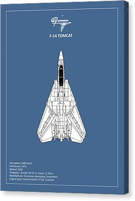 F-14 Tomcat Canvas Print by Mark Rogan