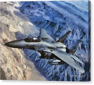 F-15 Strike Eagle Canvas Print by Esoterica Art Agency