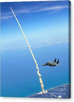 F-15e Strike Eagle Canvas Print by Celestial Images