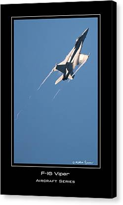F-16 Viper Canvas Print by Mathias Rousseau