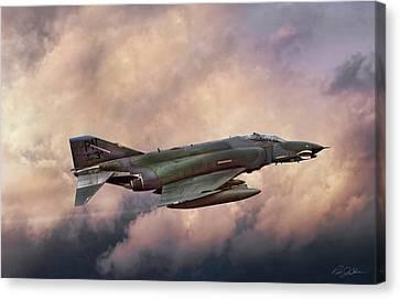 F-4e Phantom Sea Canvas Print by Peter Chilelli