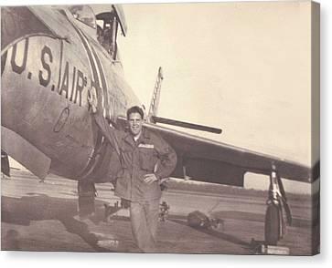 F-84f Thunderjet 1955 Canvas Print