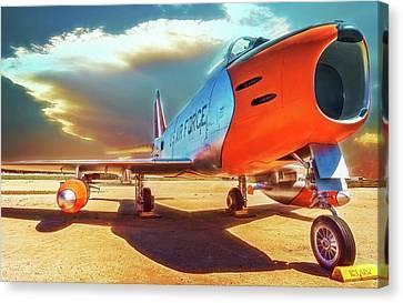 F-86 Sabre Jet Canvas Print by Steve Benefiel