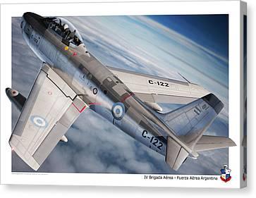 Aviationart Canvas Print - F-86f Argentina by Gino Marcomini