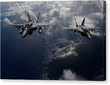F-18 Canvas Print - F A-18 Hornets Us Navy by Celestial Images