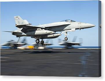 F-18 Canvas Print - F A-18 Super Hornet Us Navy by Celestial Images
