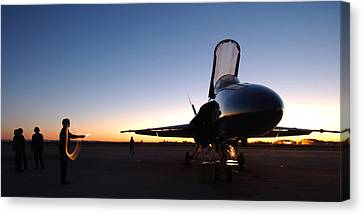 F A-18a Hornet Us Navy Canvas Print by Celestial Images