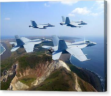 F A-18e Super Hornets  Canvas Print by Celestial Images