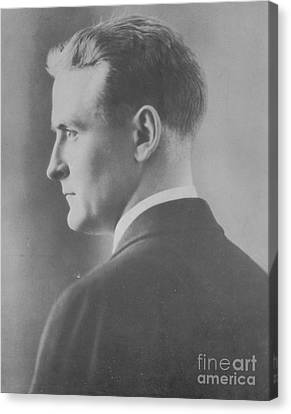 F. Scott Fitzgerald, American Author Canvas Print by Photo Researchers