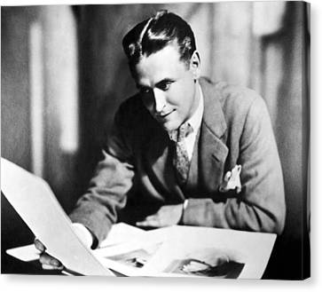 F. Scott Fitzgerald In The Late 1920,s Canvas Print by Everett
