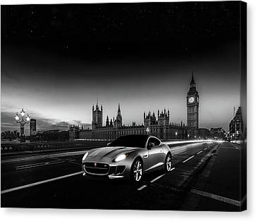 F-type In London Canvas Print by Mark Rogan