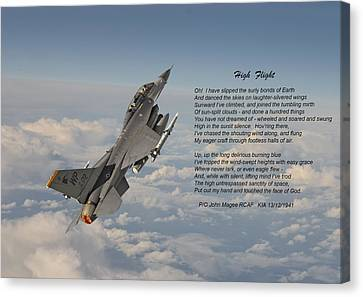 F16 - High Flight Canvas Print by Pat Speirs