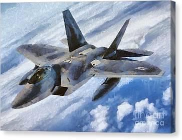 F22 Raptor Canvas Print by Esoterica Art Agency