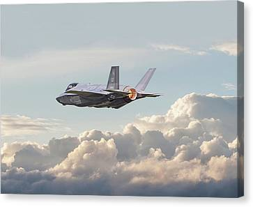 Canvas Print featuring the photograph F35 -  Into The Future by Pat Speirs