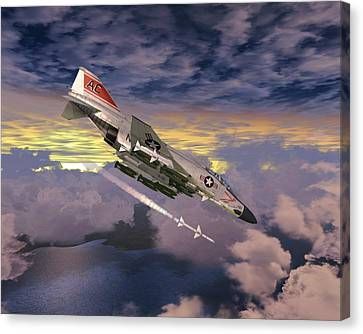 F4 Fox 0ne Canvas Print
