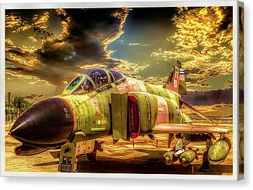 Canvas Print featuring the photograph F4c Phantom Jet by Steve Benefiel