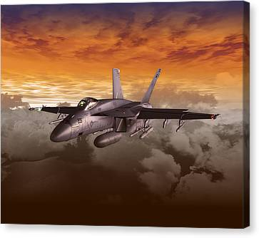 Canvas Print featuring the digital art Fa 18 Number21 by Mike Ray