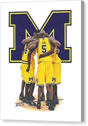 Fab Five Canvas Print by Chris Brown
