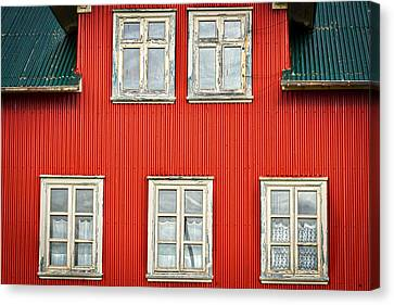 Facade And Windows - Iceland Canvas Print by Stuart Litoff