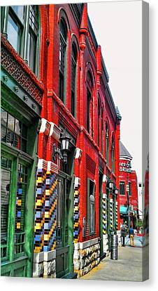 Facade Of Color Canvas Print