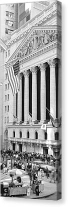 Greed Canvas Print - Facade Of New York Stock Exchange, Manhattan, New York City, New York State, Usa by Panoramic Images