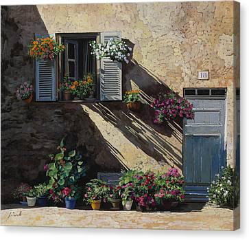 Facciata In Ombra Canvas Print by Guido Borelli
