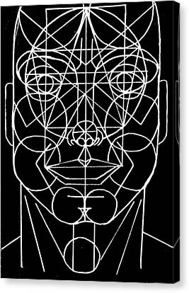 Face Geometrized Canvas Print by Paulo Zerbato