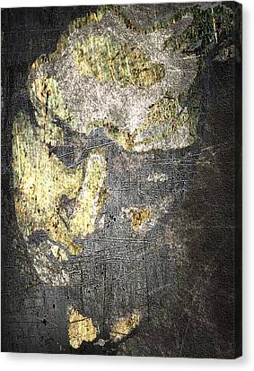 Face In Bronze And Copper Canvas Print